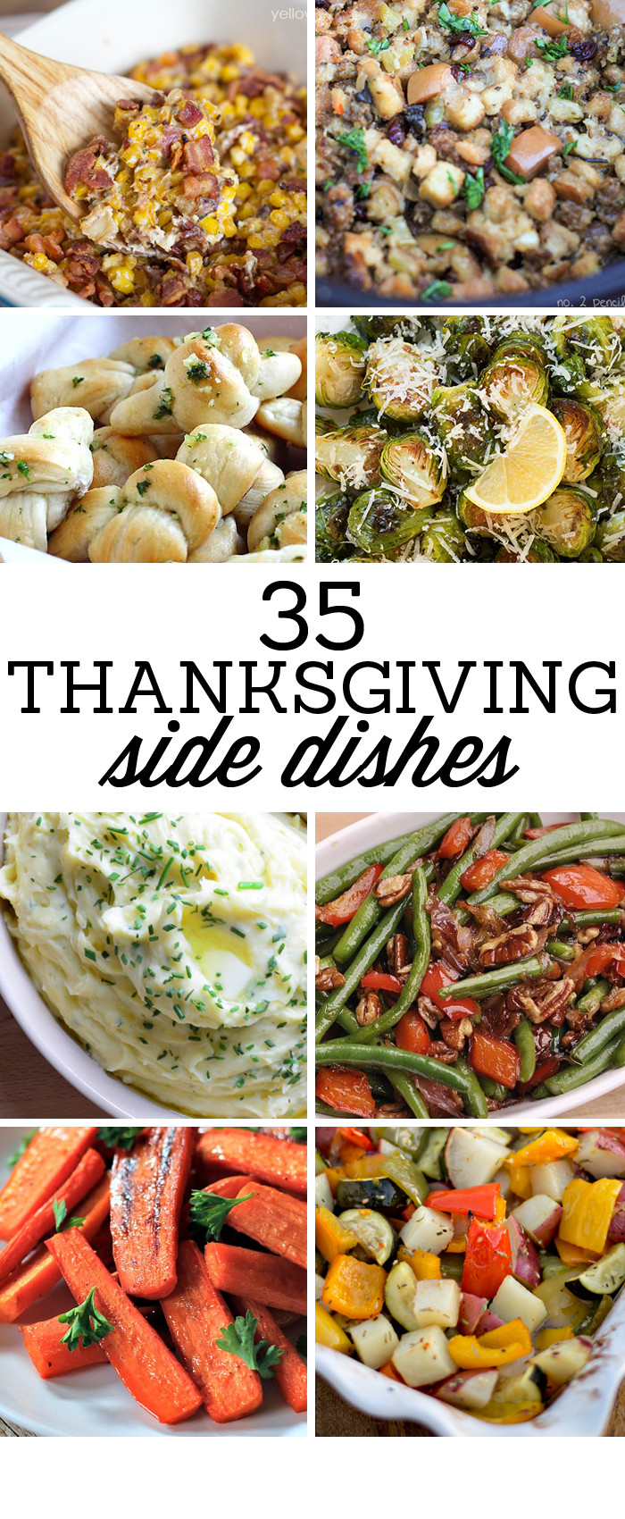 Thanksgiving Dinner Side Dishes  35 Side Dishes for Christmas Dinner Yellow Bliss Road