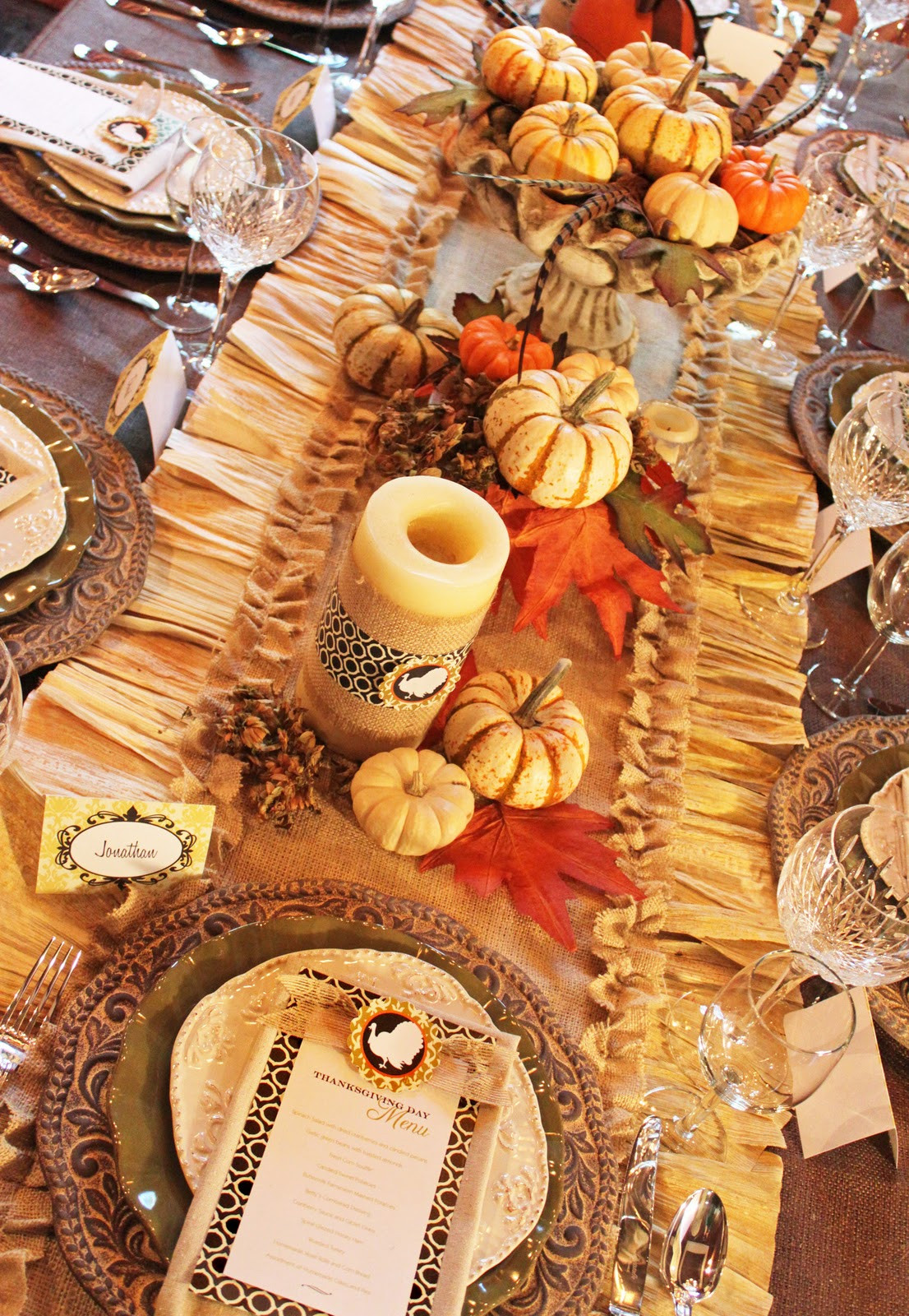 Thanksgiving Dinner Table Decorations  Amanda s Parties To Go Thanksgiving Dinner Tablescape