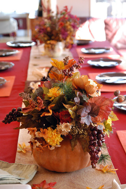 Thanksgiving Dinner Table Decorations  Party with a K THE BLOG November 2012