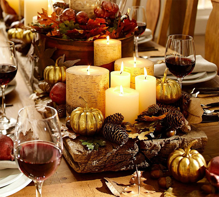 Thanksgiving Dinner Table Decorations  Fabulously Chic Tablescapes for Thanksgiving
