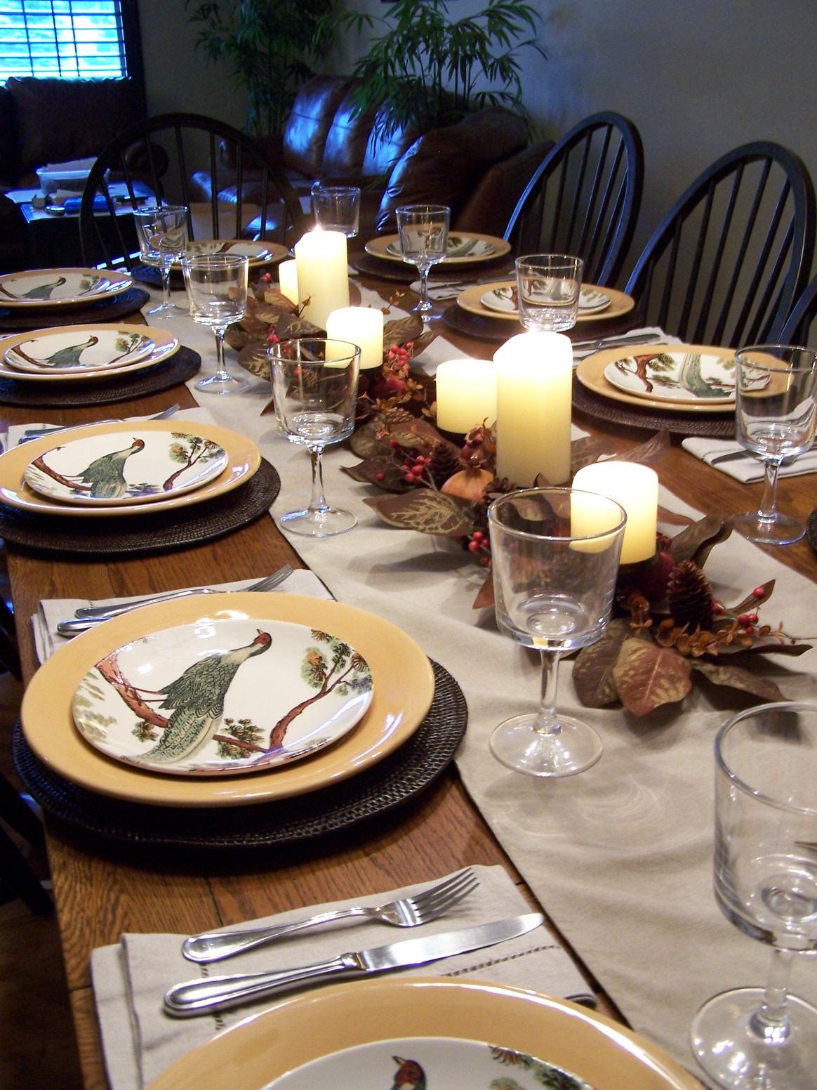 Thanksgiving Dinner Table Settings  Allyson Jane Thanksgiving Dinner From Scratch