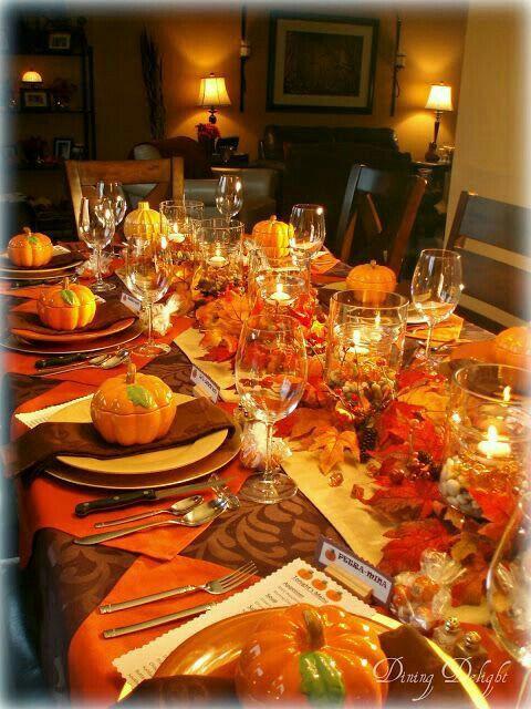 Thanksgiving Dinner Table Settings  Best 25 Thanksgiving table settings ideas on Pinterest