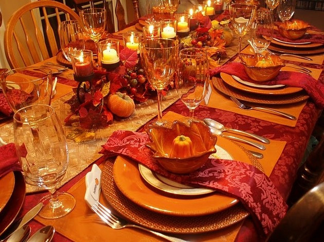Thanksgiving Dinner Table Settings  Thanksgiving Table 14 Pics