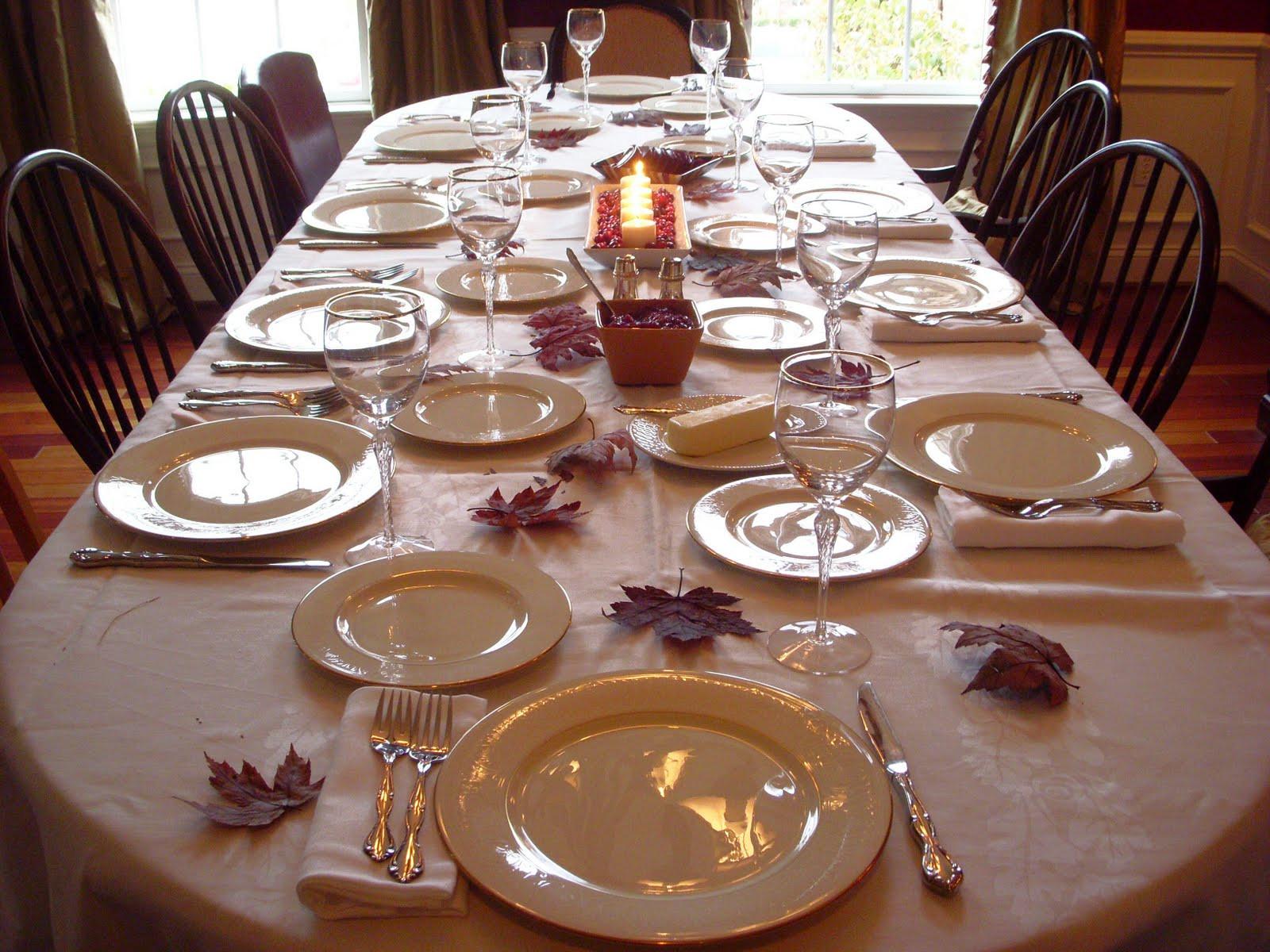 Thanksgiving Dinner Table Settings  Hope Studios Thanksgiving Wrap up