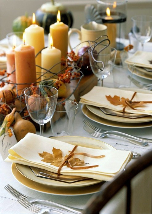 Thanksgiving Dinner Table Settings  34 Natural Thanksgiving Table Settings DigsDigs