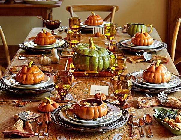 Thanksgiving Dinner Table Settings  Home Entertaining – Fall Dinnerware Trends – Home Notes