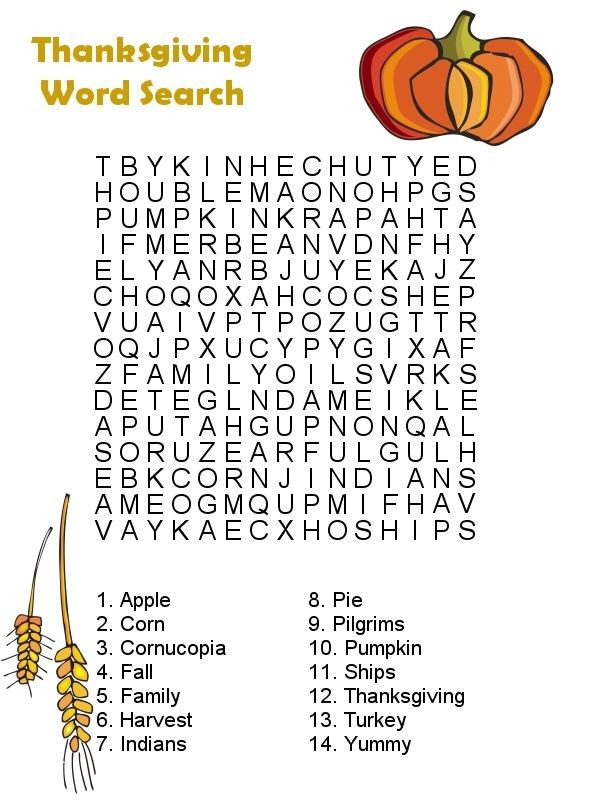 Thanksgiving Dinner Word Whizzle Search  thanksgiving word search 1 Ideas