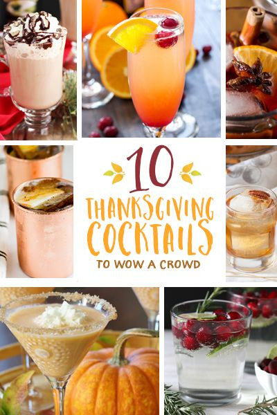 Thanksgiving Drinks For A Crowd  Best 25 Thanksgiving cocktails ideas on Pinterest