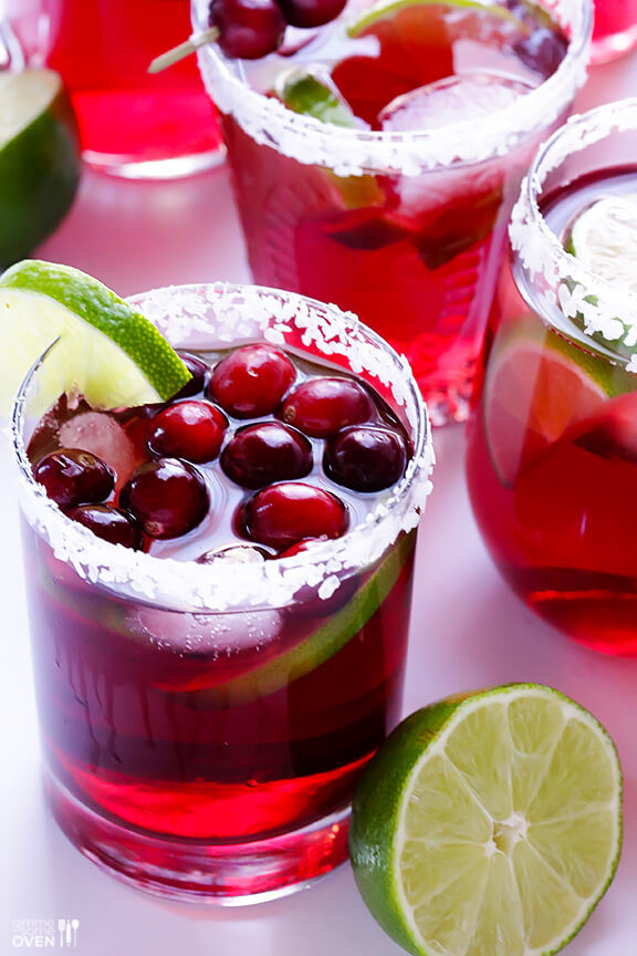 Thanksgiving Drinks For A Crowd  Cranberry Margaritas