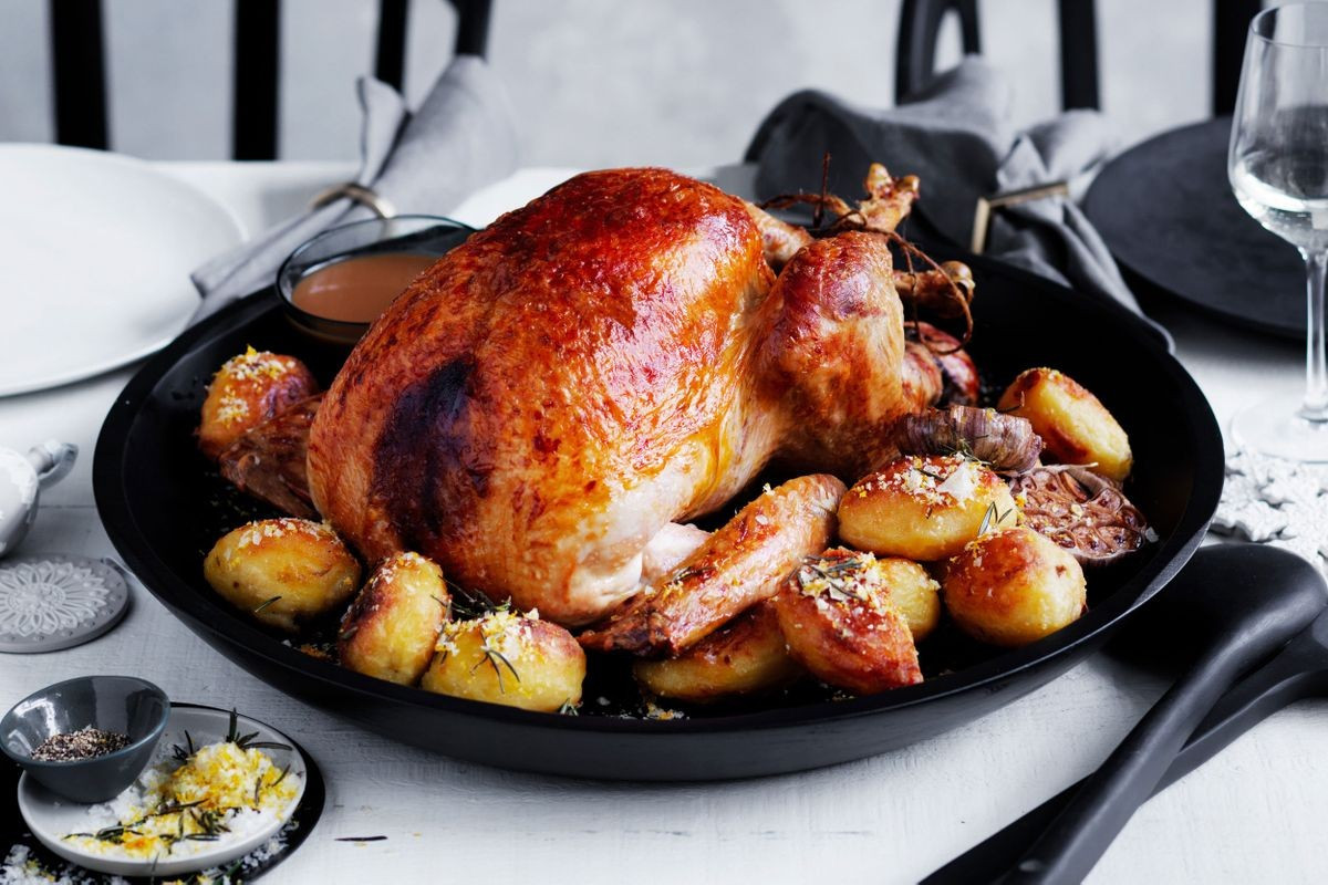 Thanksgiving Duck Recipes  Valli Little s turkey with fruit stuffing and duck fat