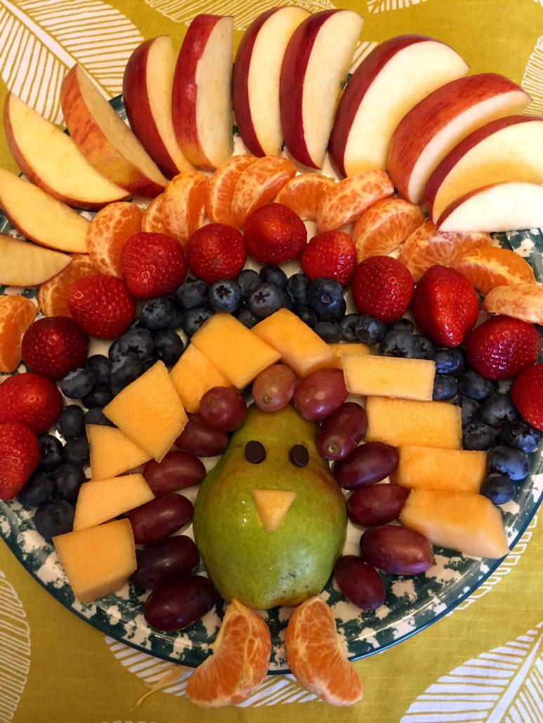 Thanksgiving Fruit Desserts  Thanksgiving Turkey Shaped Fruit Platter Appetizer Recipe
