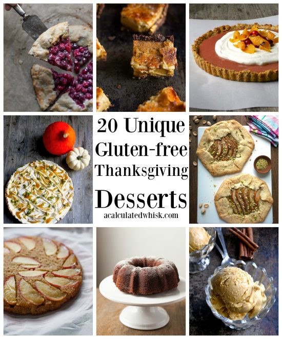 Thanksgiving Gluten Free Desserts  20 Unique Gluten free Thanksgiving Desserts A Calculated