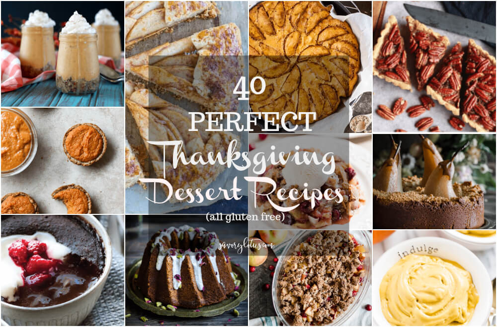Thanksgiving Gluten Free Desserts  40 Perfect Thanksgiving Dessert Recipes Savory Lotus
