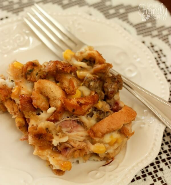 Thanksgiving Leftovers Casserole  Thanksgiving Leftover Casserole