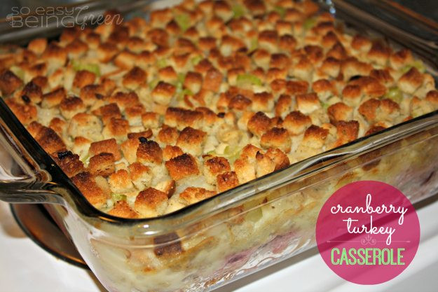 Thanksgiving Leftovers Casserole  Thanksgiving Leftovers Casserole