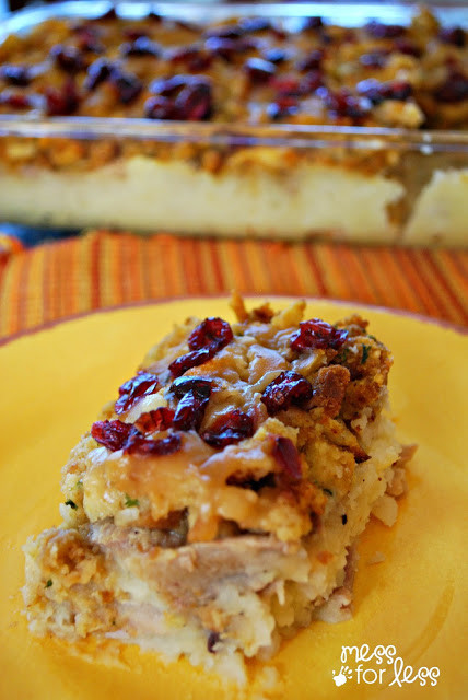 Thanksgiving Leftovers Casserole  Thanksgiving Dinner Casserole Mess for Less