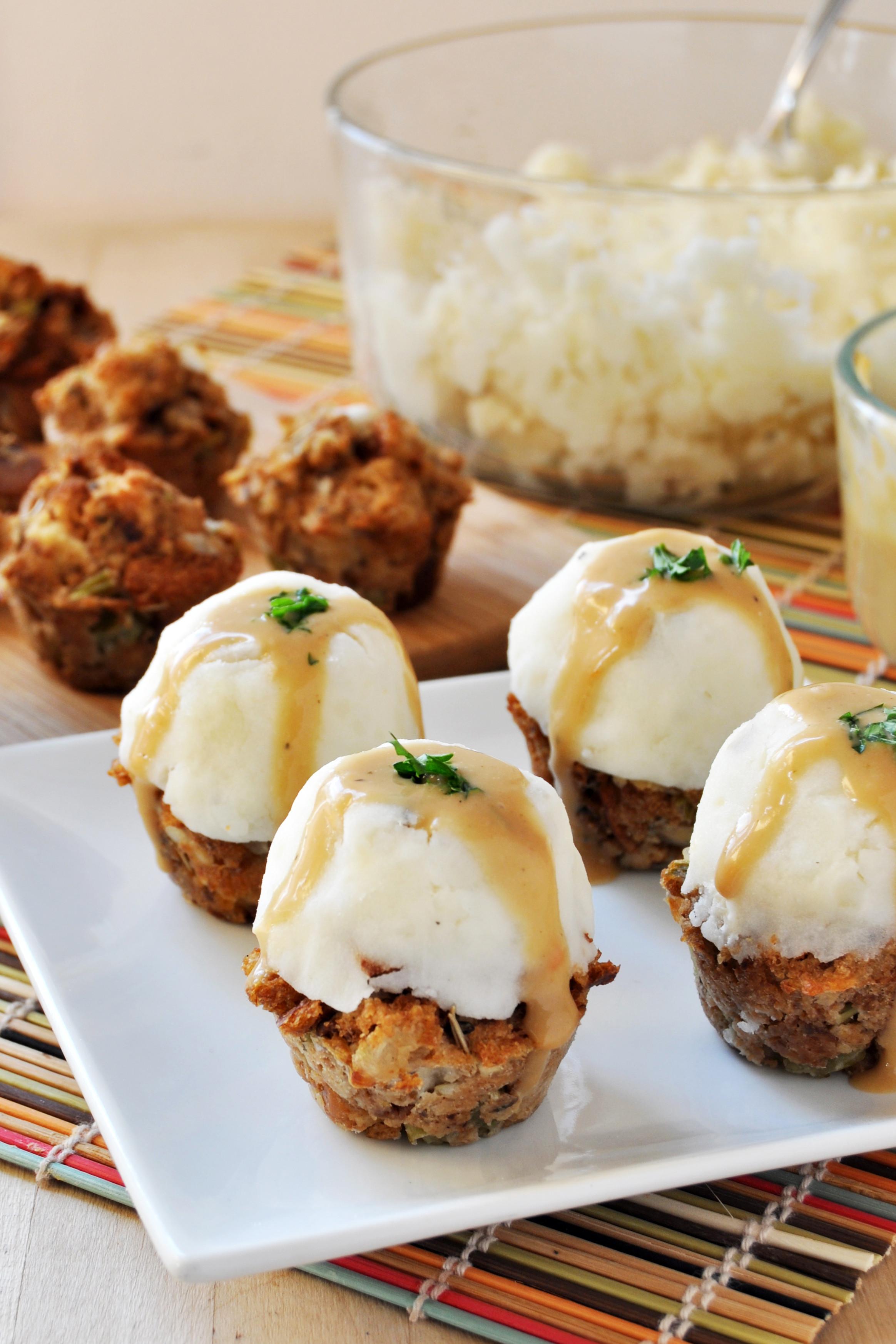 Thanksgiving Mashed Potatoes Recipe  Vegan Gluten Free Thanksgiving Stuffing Muffins with