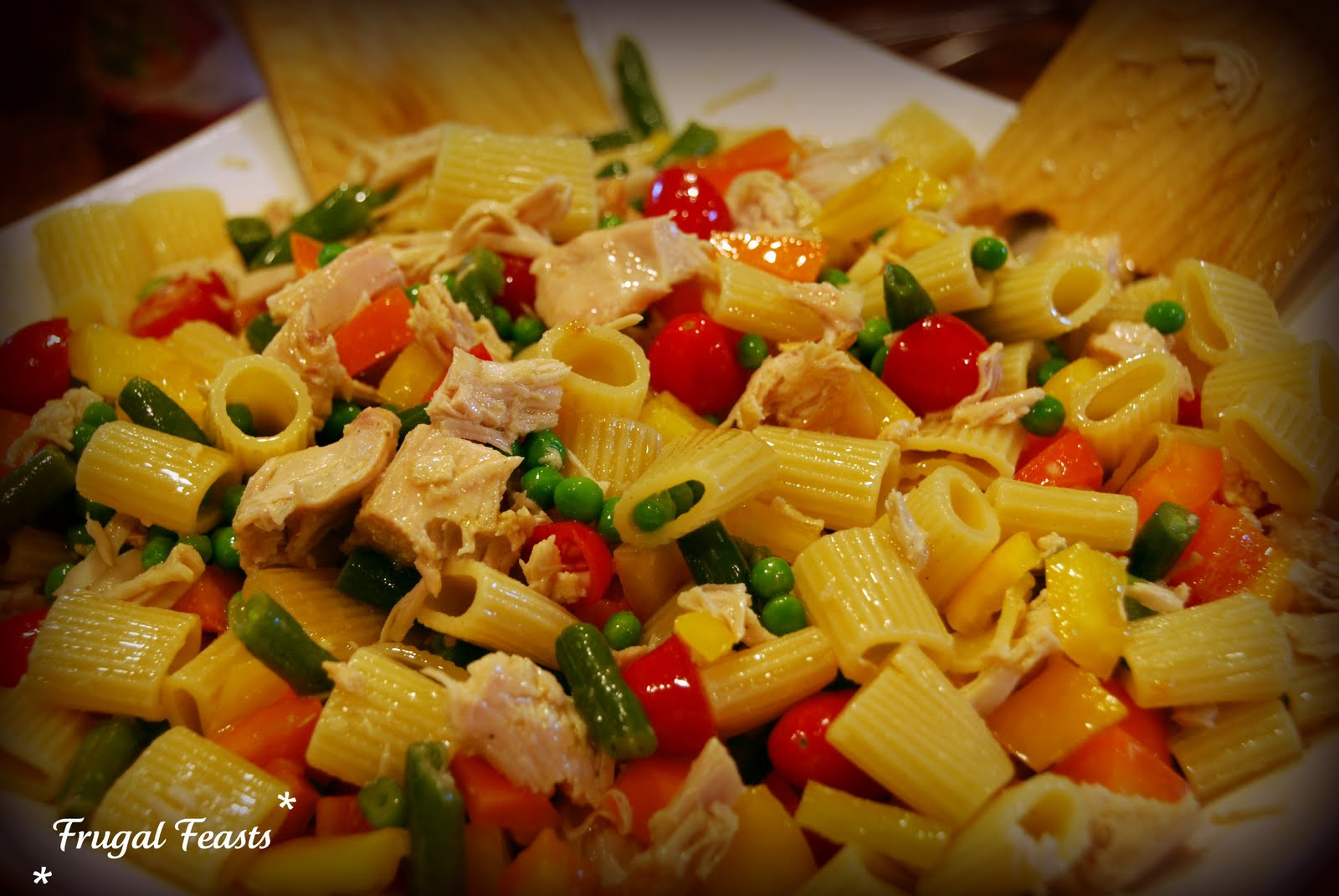 Thanksgiving Pasta Salad  Frugal Feasts Turkey Salad with Pasta and Garlic