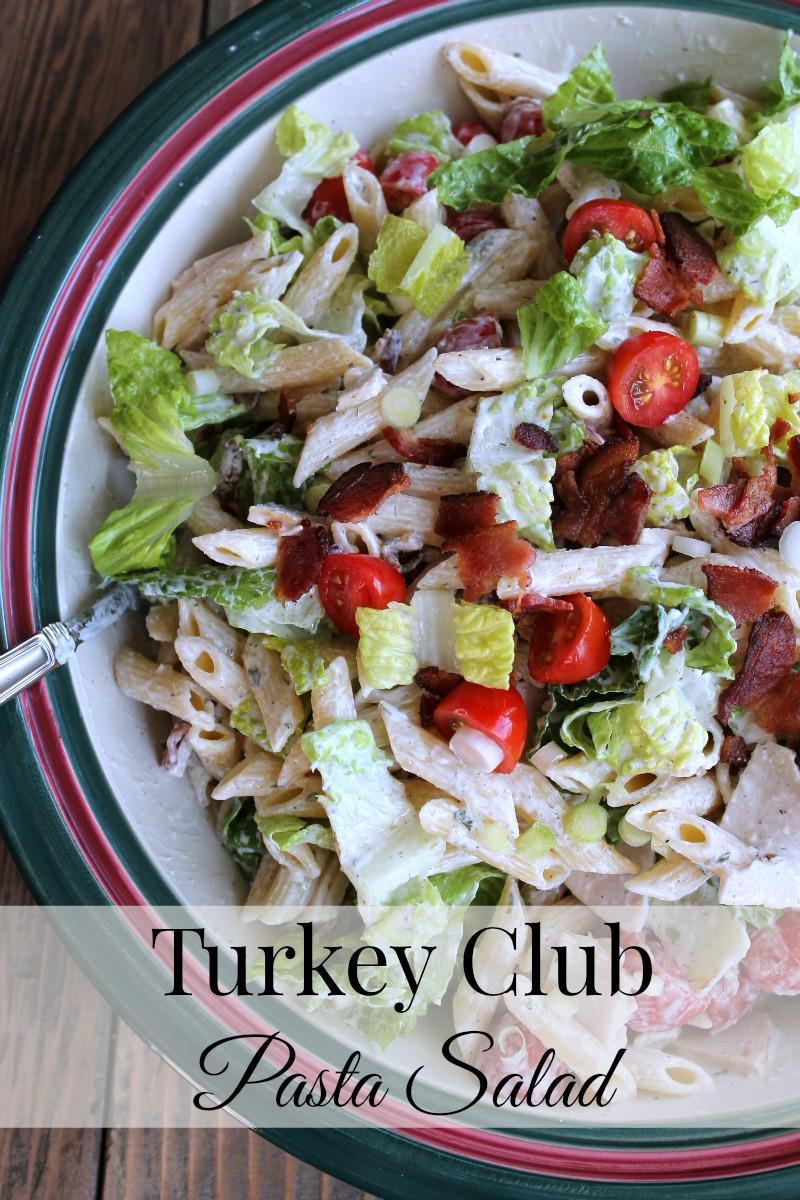 Thanksgiving Pasta Salad  Turkey Club Pasta Salad