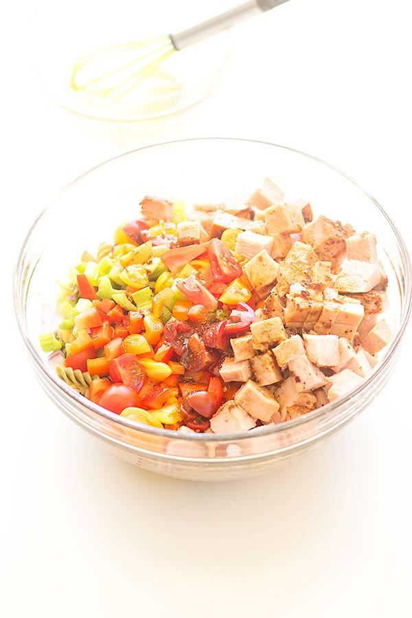 Thanksgiving Pasta Salad  cajun turkey pasta salad Well Floured