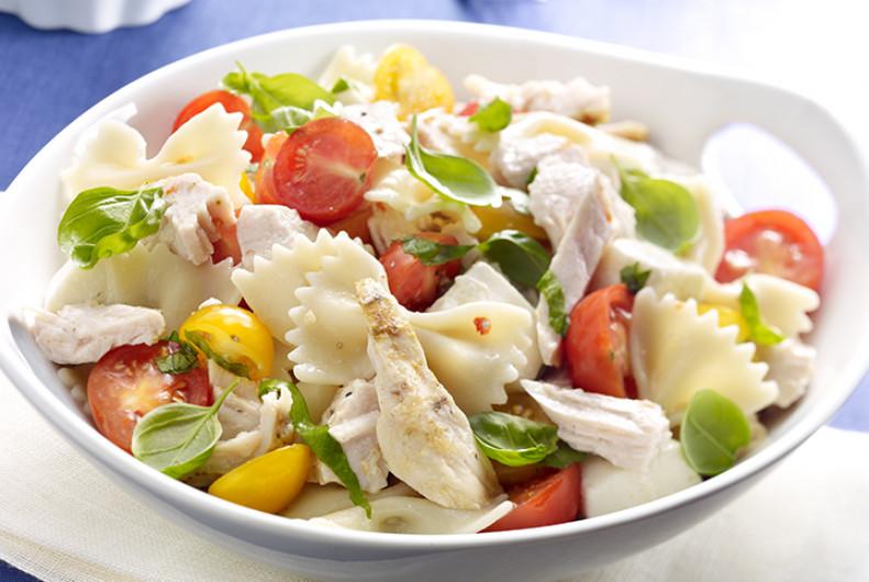 Thanksgiving Pasta Salad  Greek Turkey Pasta Salad