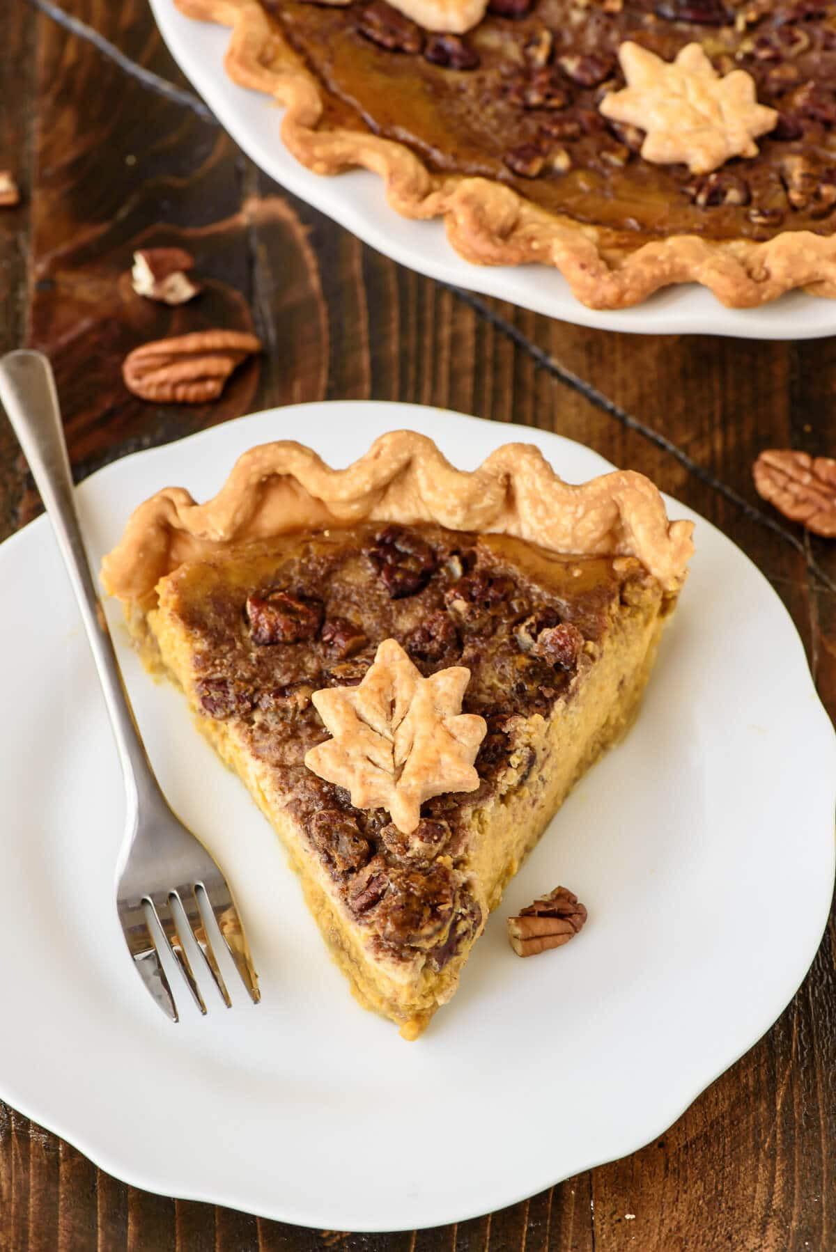 Thanksgiving Pecan Pie  Pumpkin Pecan Pie