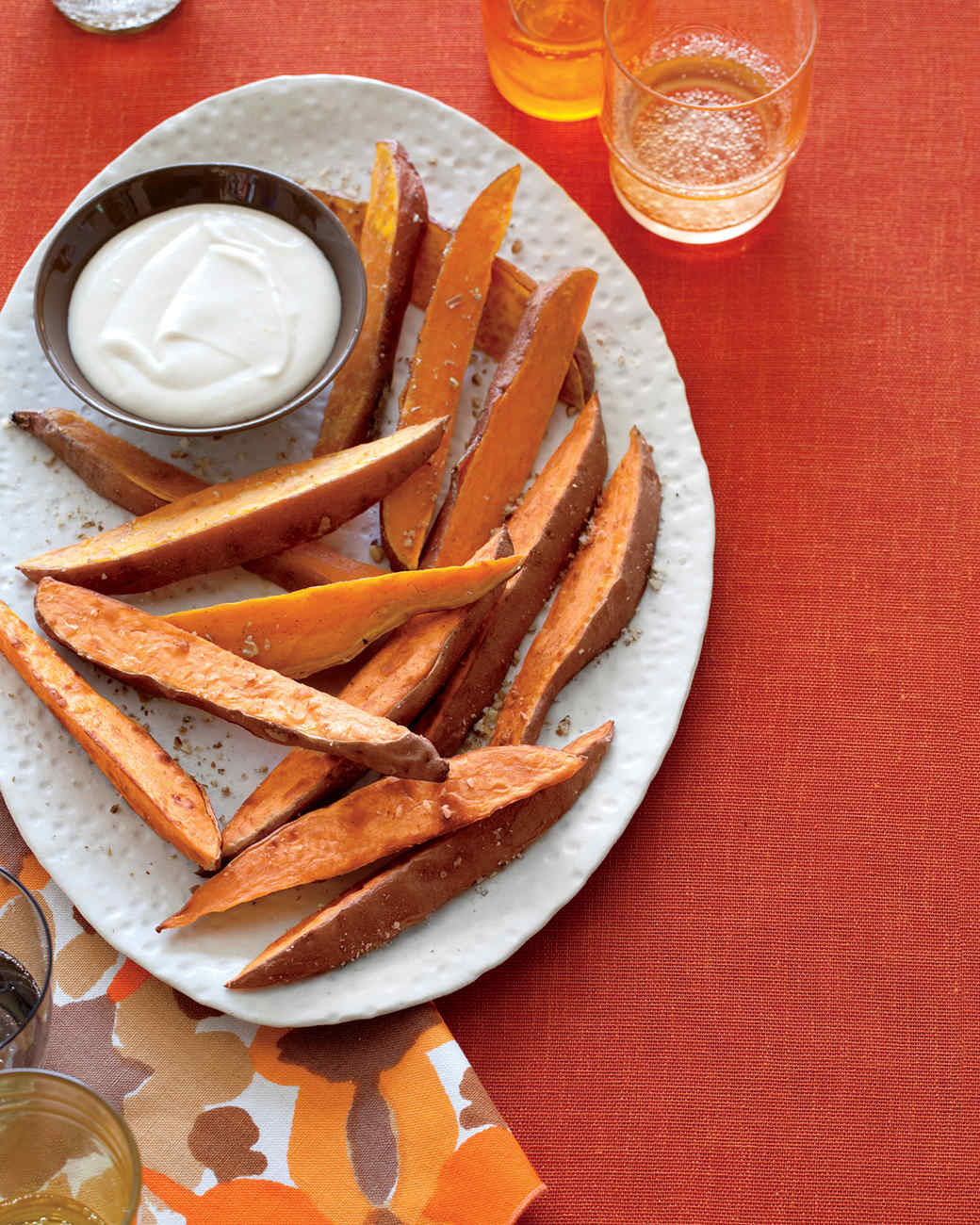Thanksgiving Potatoes Recipe  Sweet Potato Fries with Brown Butter Marshmallow Sauce