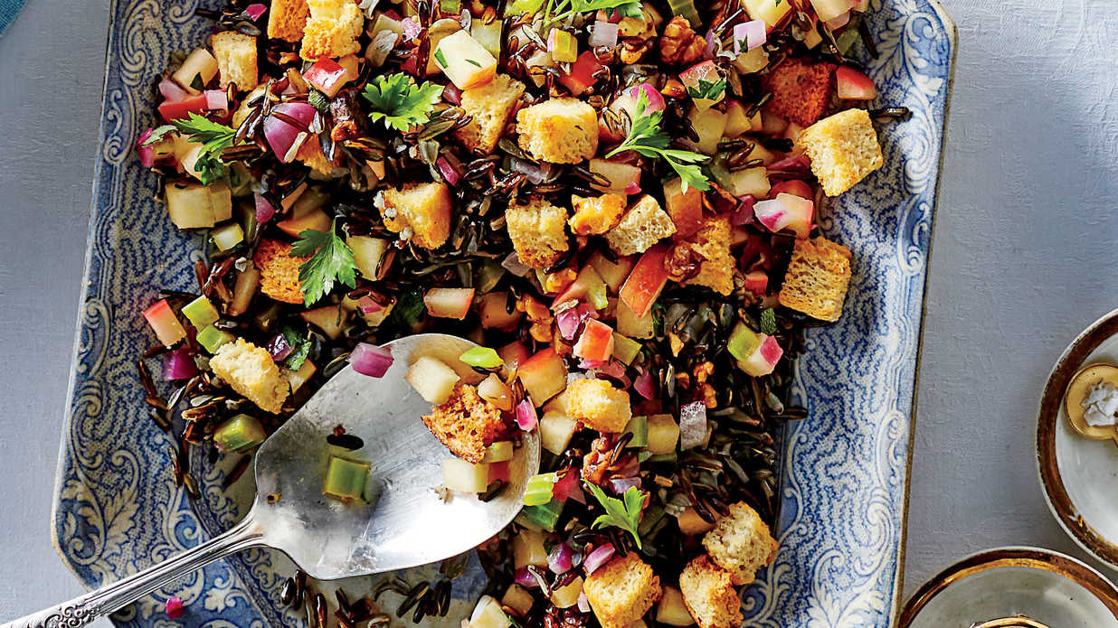 Thanksgiving Side Dishes Ideas  Herbed Wild Rice Dressing Recipe Southern Living