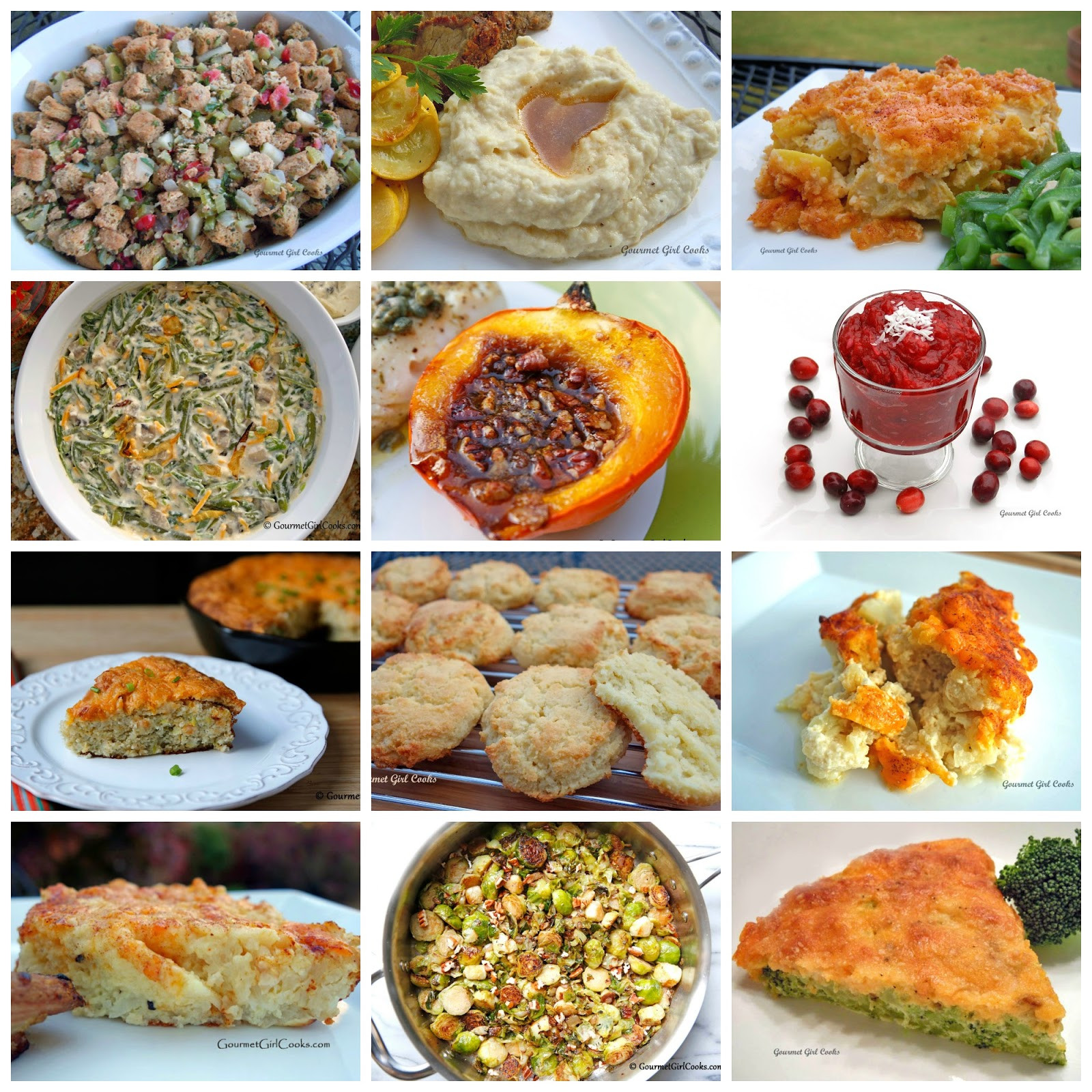 Thanksgiving Side Dishes Ideas  Gourmet Girl Cooks 12 Thanksgiving Side Dish Recipes