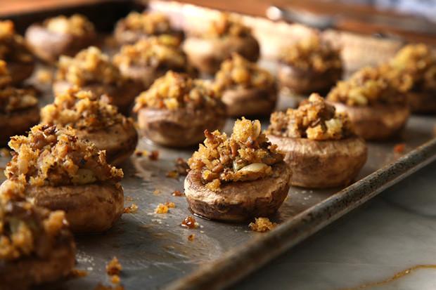 Thanksgiving Stuffed Mushrooms  Thanksgiving Leftovers Recipes Stuffing Stuffed