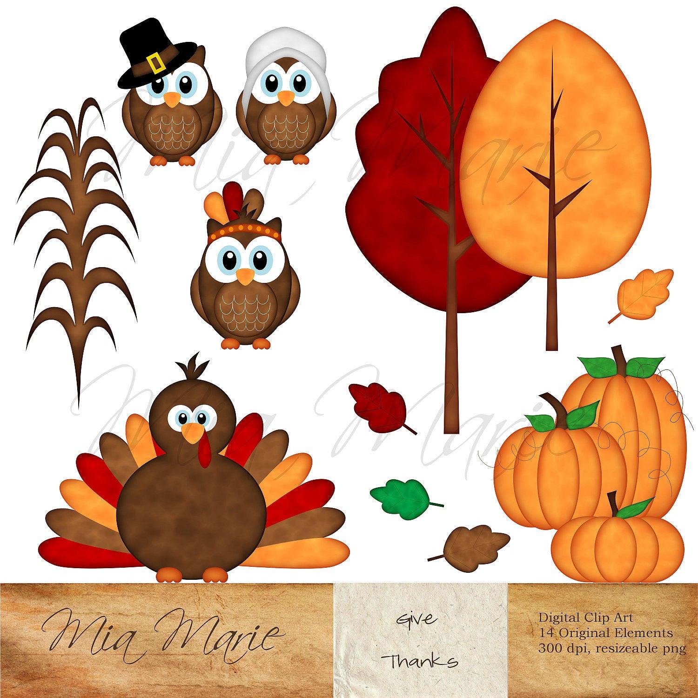 Thanksgiving Turkey Art  INSTANT DOWNLOAD Digital Clip Art Thanksgiving clipart