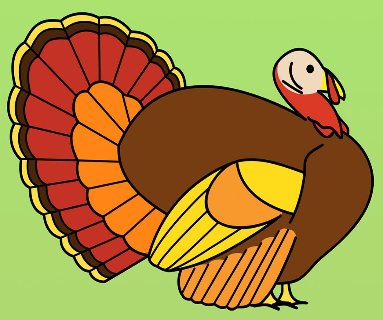 Thanksgiving Turkey Art  Clip Art Turkey Dinner B&W Thanksgiving Holiday