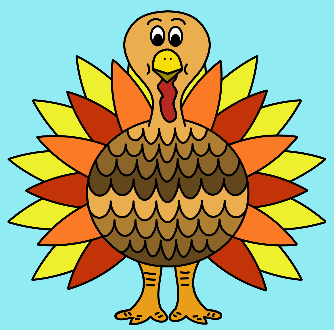 Thanksgiving Turkey Art  Free Turkey Clip Art Clipartix