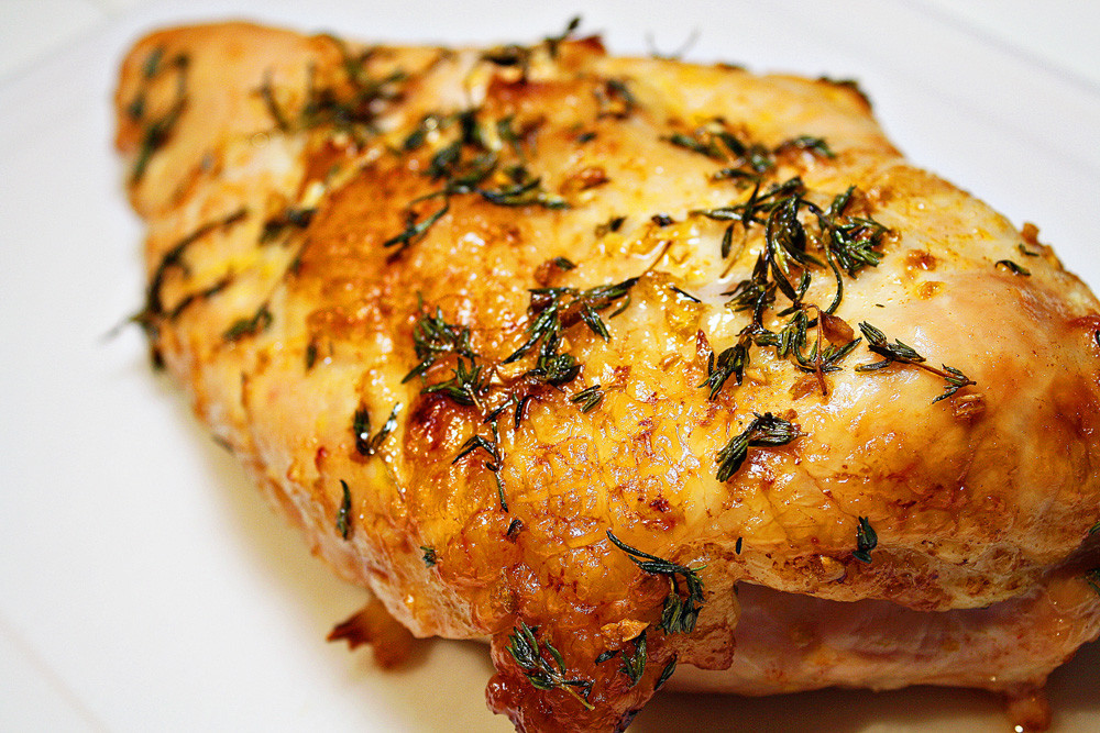 Thanksgiving Turkey Breast Recipe  Oven Roasted Turkey Breast with Pan Gravy