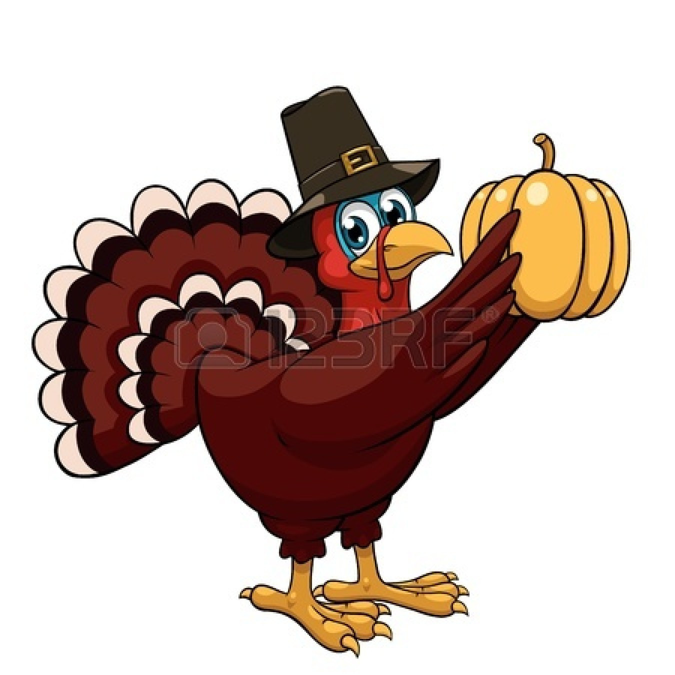 Thanksgiving Turkey Cartoon Images  Happy Thanksgiving Turkey Clipart Black And White