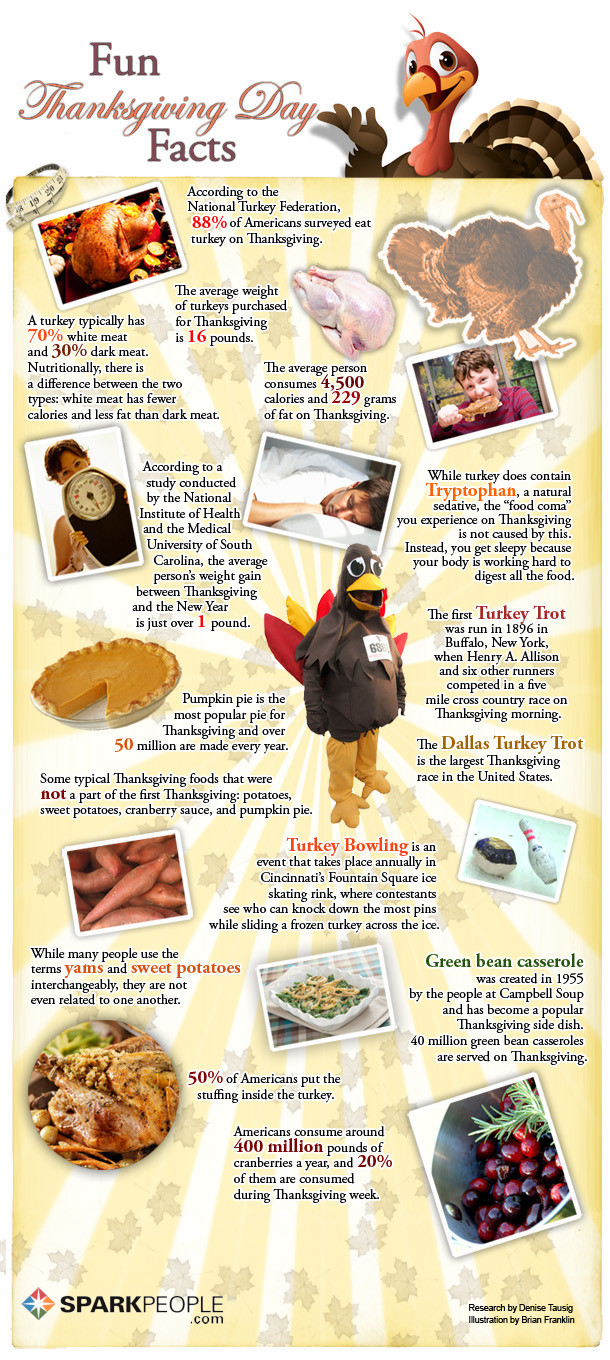 Thanksgiving Turkey Facts  Thanksgiving Fun Facts From Honey Orthodontics in Gurnee IL
