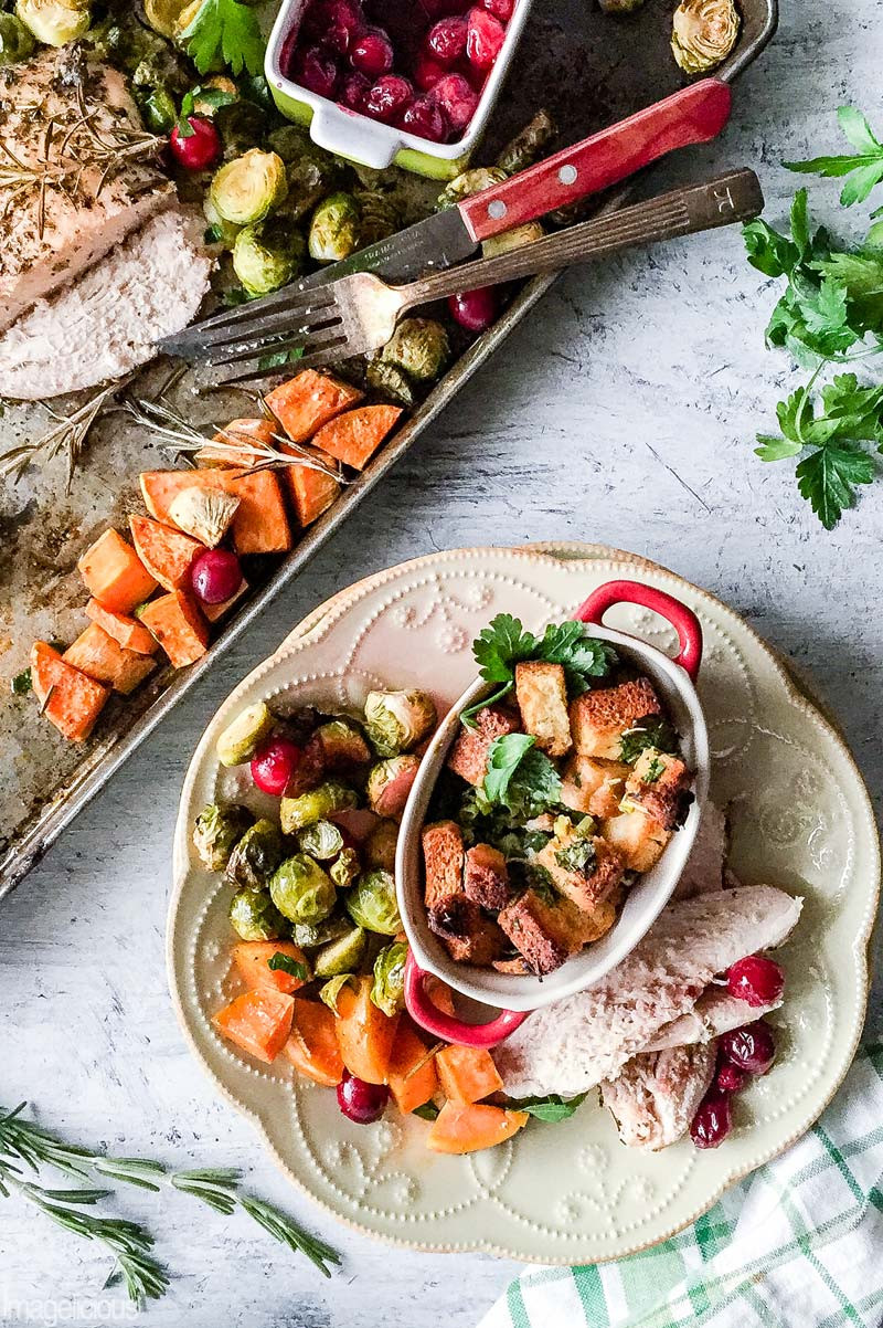 Thanksgiving Turkey For Two  Easy and Beautiful Sheet Pan Thanksgiving Dinner for Two