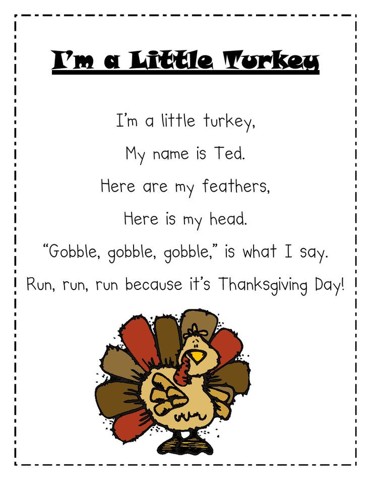 Thanksgiving Turkey Poem  Thanksgiving Preschool Quotes QuotesGram