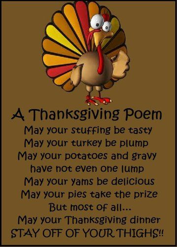 Thanksgiving Turkey Poem  A Thanksgiving Poem