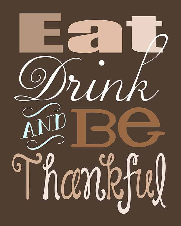 Thanksgiving Turkey Quotes  Free Thanksgiving Printables Christinas Adventures
