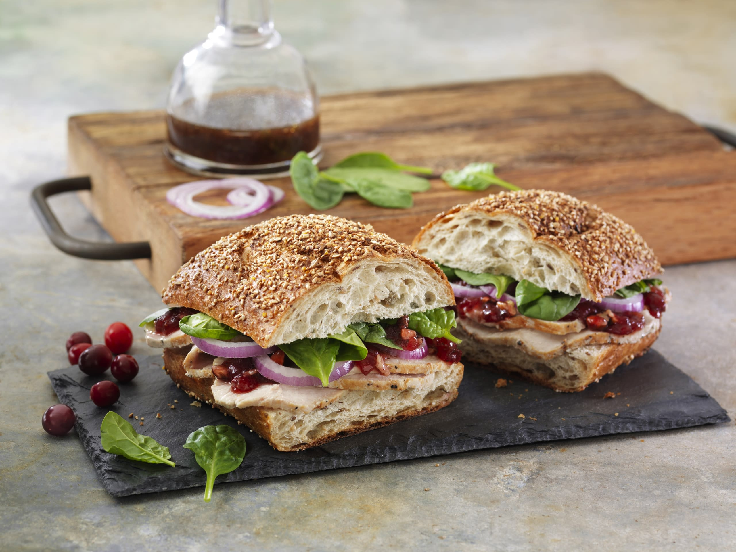 Thanksgiving Turkey Sandwich  Balsamic Cranberry Turkey Sandwich Meal Idea