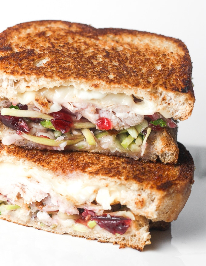 Thanksgiving Turkey Sandwich  Leftover Thanksgiving Turkey Sandwich with Cranberry Sauce