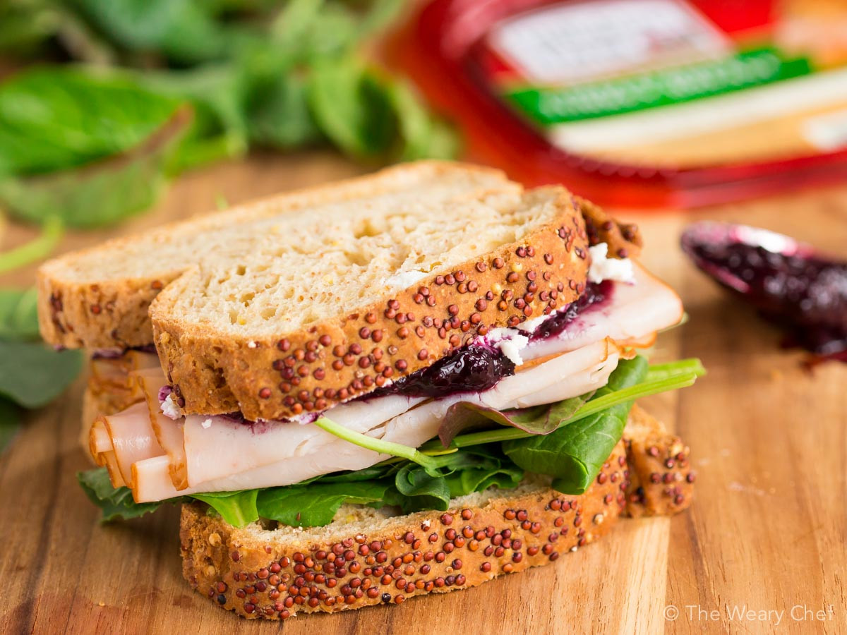 Thanksgiving Turkey Sandwich  Turkey Sandwich with Goat Cheese and Jam The Weary Chef