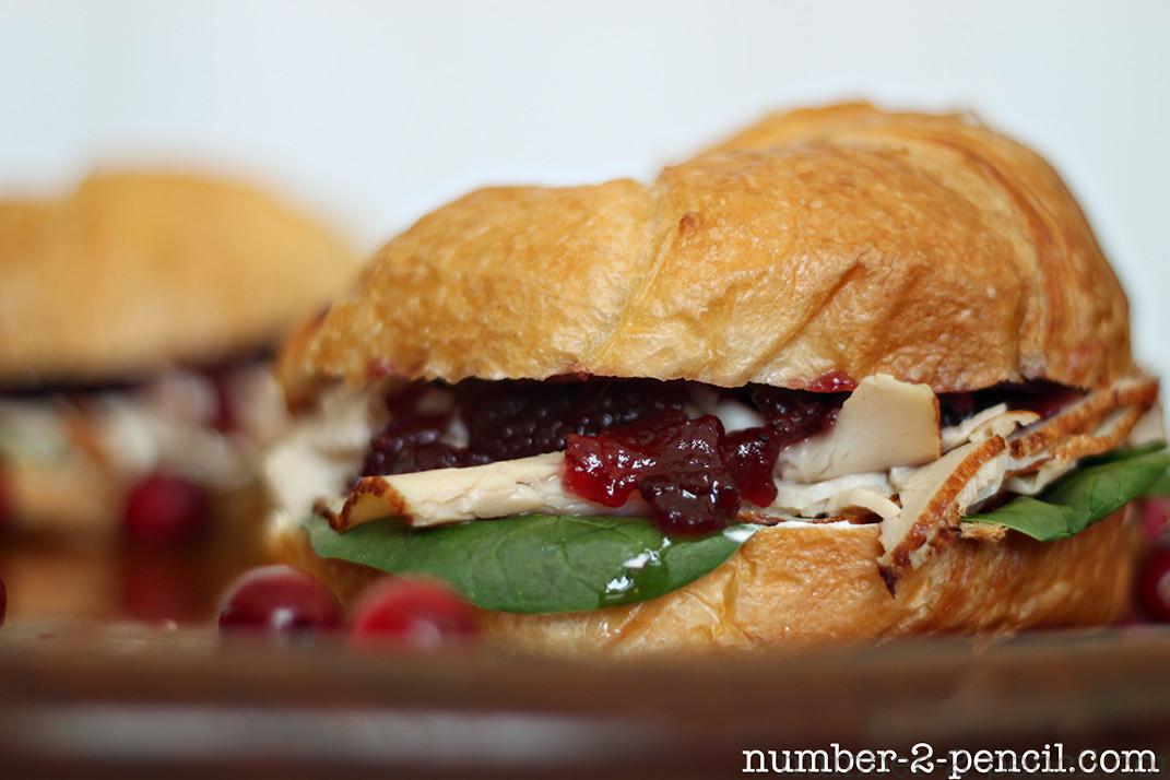 Thanksgiving Turkey Sandwich  Cranberry Turkey Sandwich No 2 Pencil