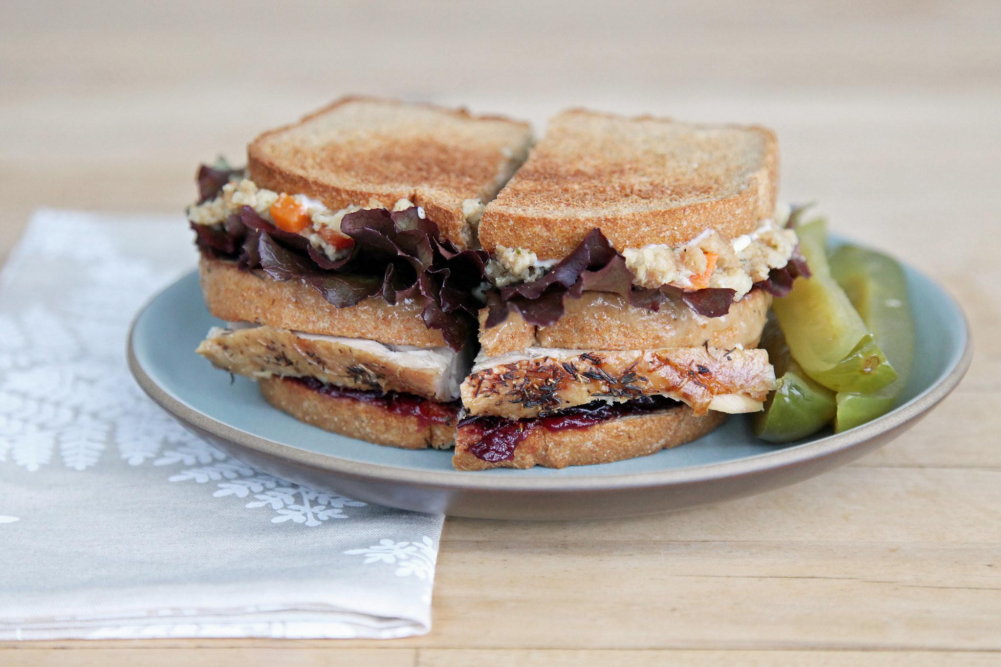 Thanksgiving Turkey Sandwich  Leftover Turkey Sandwich Recipe From Friends