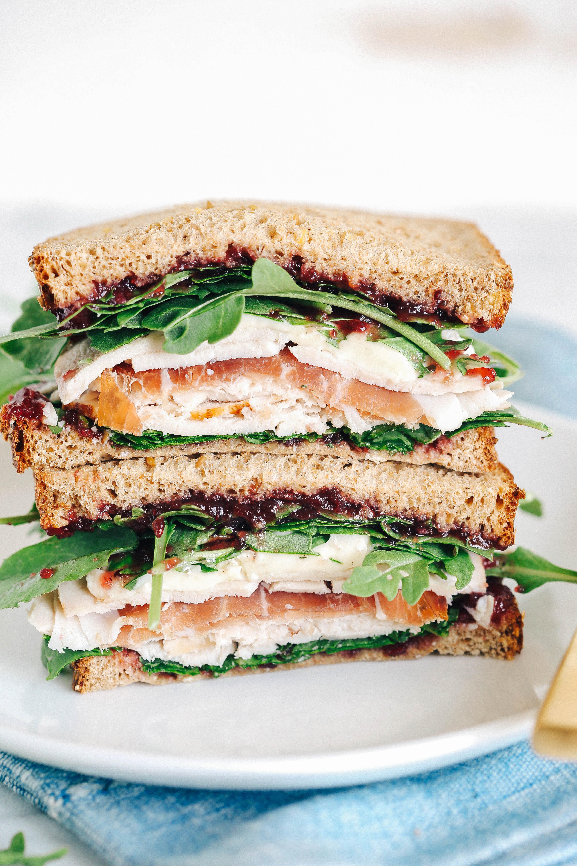 Thanksgiving Turkey Sandwich  Turkey Sandwich with Cranberry Brie & Prosciutto Eat