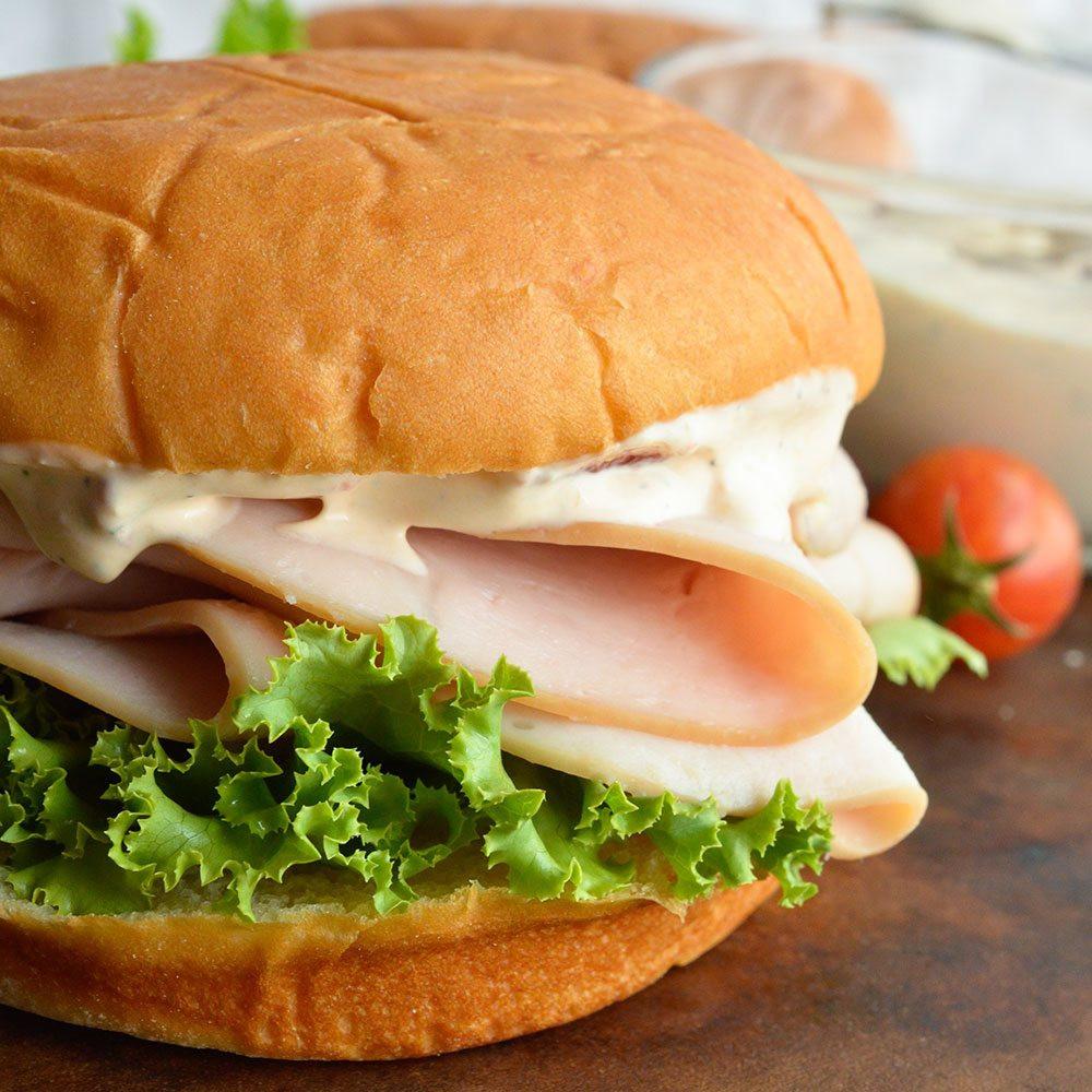 Thanksgiving Turkey Sandwich  Turkey Sandwich with Chipotle Ranch Dressing