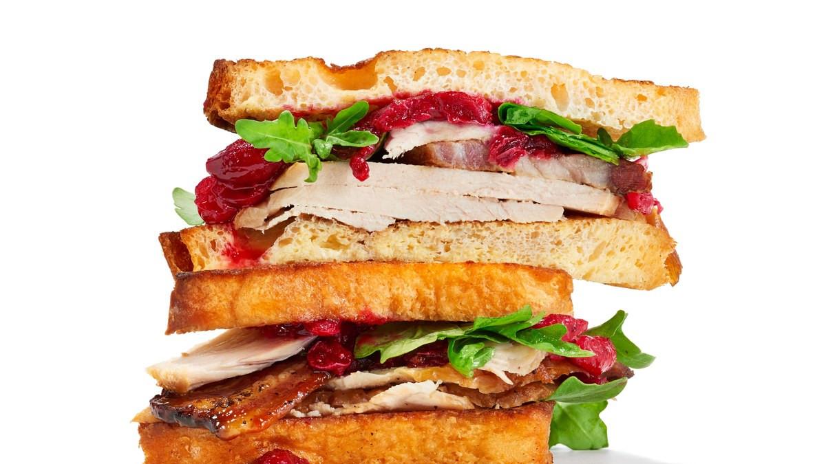 Thanksgiving Turkey Sandwich  French Toast Turkey Sandwich Recipe