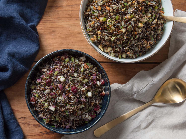 Thanksgiving Wild Rice  Wild Rice Salad for Thanksgiving Two Ways