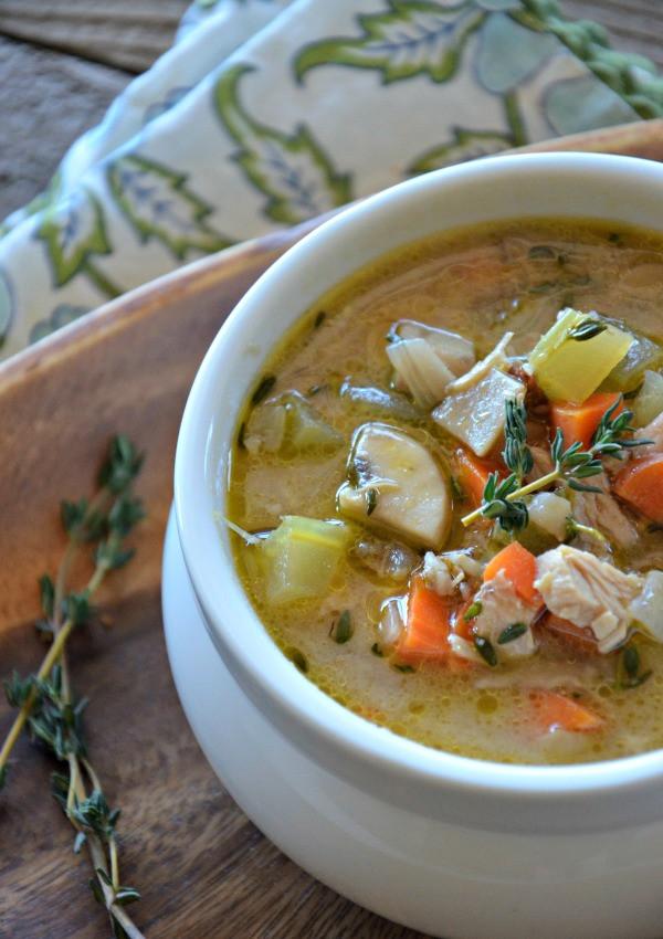 Thanksgiving Wild Rice  Leftover Turkey & Wild Rice Soup Mountain Mama Cooks